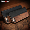Dr. case de madeira natural pu leather case fundas para iphone 6 6 s moda carteira case para iphone 6 plus slot kickstand saco cobrir