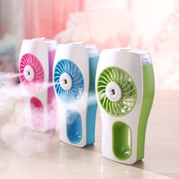 Mini Portable Handheld Fan Humidifier USB Rechargeable Mini Spraying Cooling Air Fan Moisturizing Air Conditioner