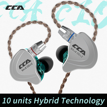 Upgraded 4 Balanced Armature CCA C10 Hybrid In Ear Earphone HIFI DJ Monitor Running Sport Earphone Headset Earbud With Detacable
