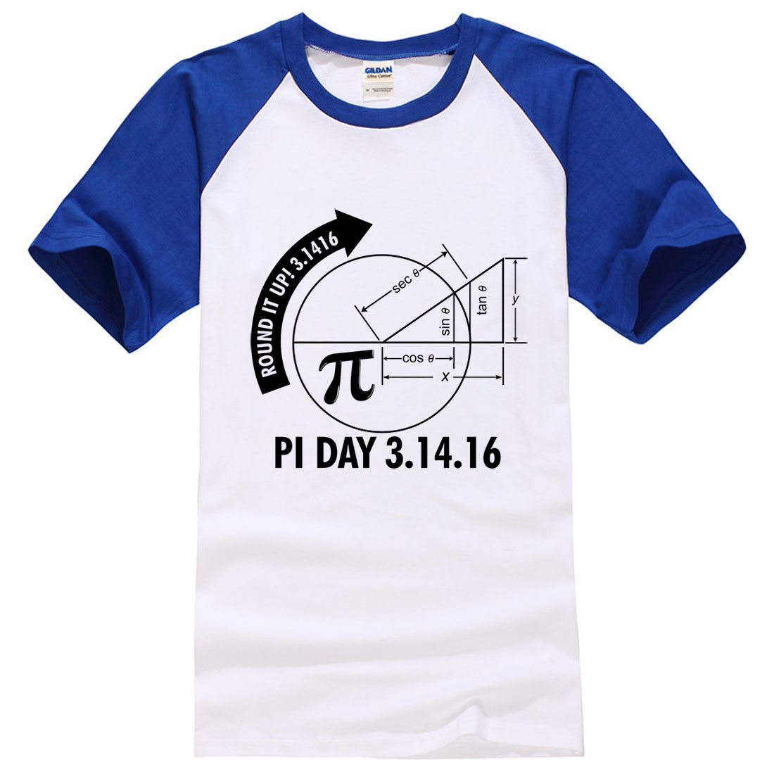 Pi Day 2017 3.1416 Round It Up Math Graph STEM funny print T-Shirt men 2017 summer patchwork fashion brand tops tee shirts man