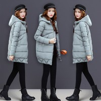 HZF New Fashion Large Collar Ladies Coats Winter Women Parka Long Thick Slim Womens Coats And Jacket Outerwear Winter coat women