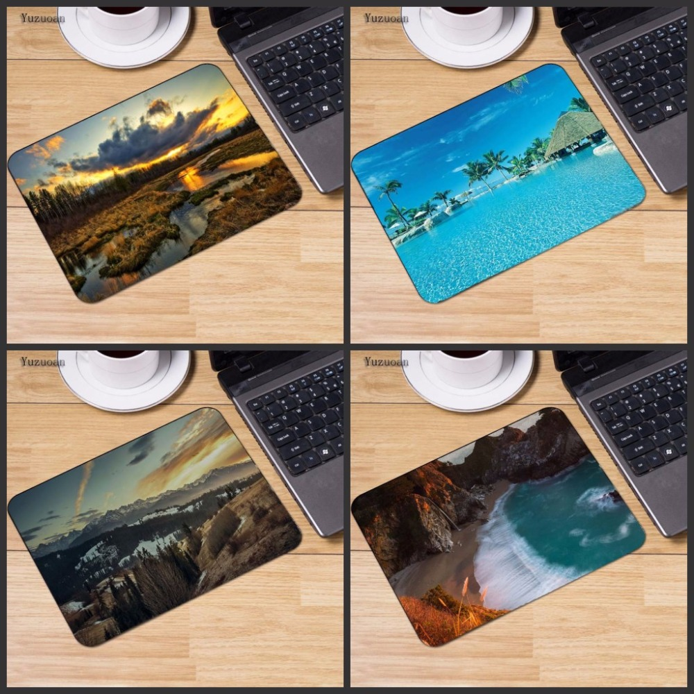 Yuzuoan Cloud Sky River Gaming MousePad Computer Laptop Anime Mouse Mat Size for 25x29cm Rubber Rectangle Mousemat