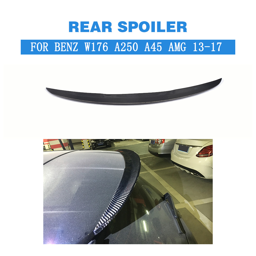 Black Rear Roof Spoiler Window Wing for Mercedes Benz W176 A250 A45 AMG 2013-2017 Auto Back Trunk Window Spoiler Car Styling tms320f28335 tms320f28335ptpq lqfp 176