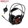 Компьютер USB Gaming Headset Somic G938 LBST Свет Стерео Наушники С Микрофоном 7.1 Виртуальный Объемный Звук Эффект шлем