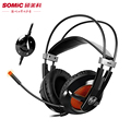Ordenador usb gaming headset somic g938 lbst luz led estéreo auriculares con micrófono 7.1 virtual surround sound effect casque