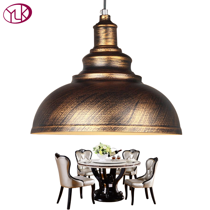Youlaike European Vintage Pendant Light Lamp Black/Bronze ...