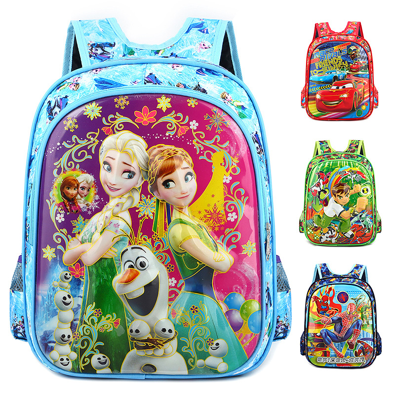 Disney Backpack Mickey Mouse Frozen Minnie Cars Boy Girl Large School Bag