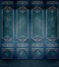 Vinil pano azul escuro retro palácio parede photo studio fundos para as crianças de casamento retrato fotográfico fundos fotografia