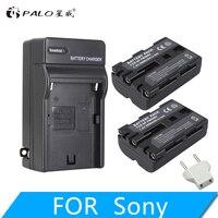 2Pcs 2000mAh NP FM500H NP FM500H Camera Batteries Battery + Charger For Sony A57 A58 A65 A77 A99 A550 A560 A580 NP FM500H