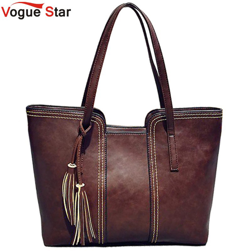 Vogue Star 2017 New Women Messenger Bags With Tassel  Designers Leather Handbag Large Capacity Women Bag Shoulder Tote Bag LS241
