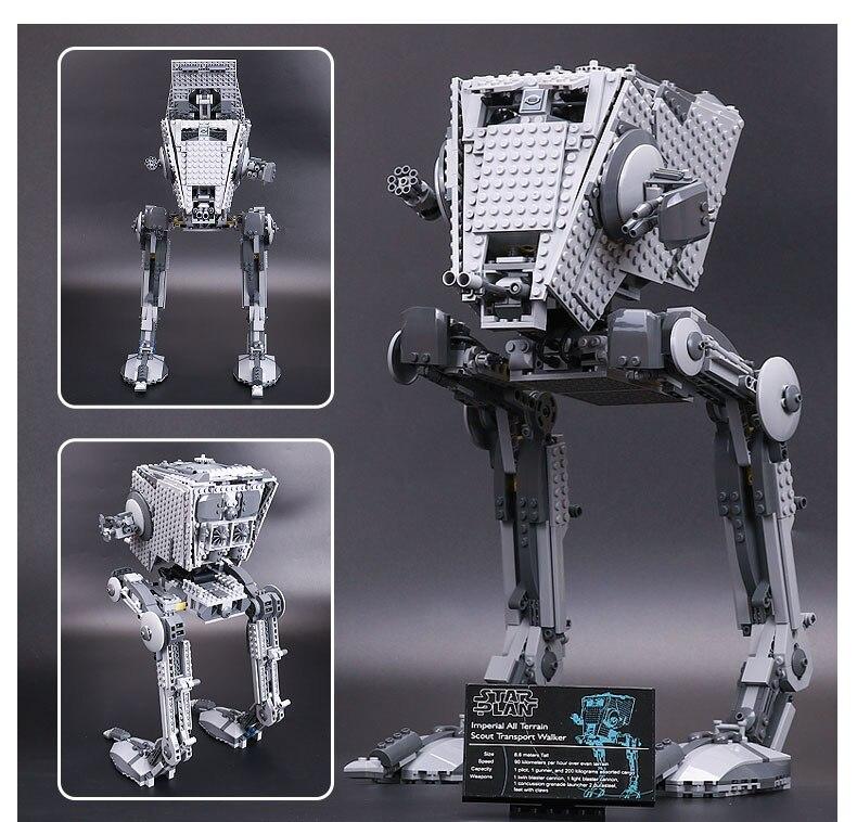 где купить 05052 1068pcs Out of print empire AT ST Building Blocks Bricks Model Funny Toys Boys Gifts Compatible Legoness with 75153 по лучшей цене