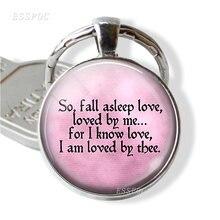 Брелок с цитатой rotor browning брелок надписью «so fall sleeping
