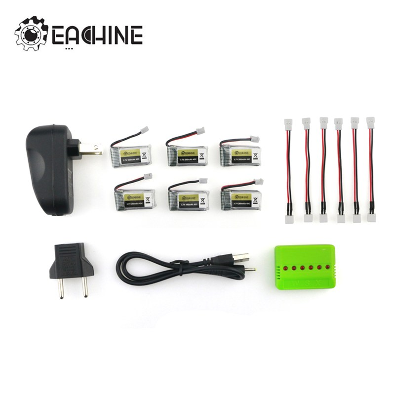 6PCS / 5PCS / 4PCS Eachine E010 E010C E011 E013 3.7V 260MAH 45C LIPO Battery For RC Quadcopter Parts Replacement Accessories 5pcs eachine e010 e010c e011 e011c e013