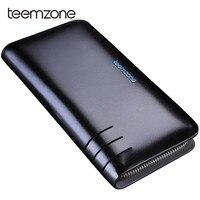 Teemzone Men Wallets With Coin Pocket Long Double Zipper Purse For Men Clutch Business Male Wallet Men Luxury Large Wallet S3310
