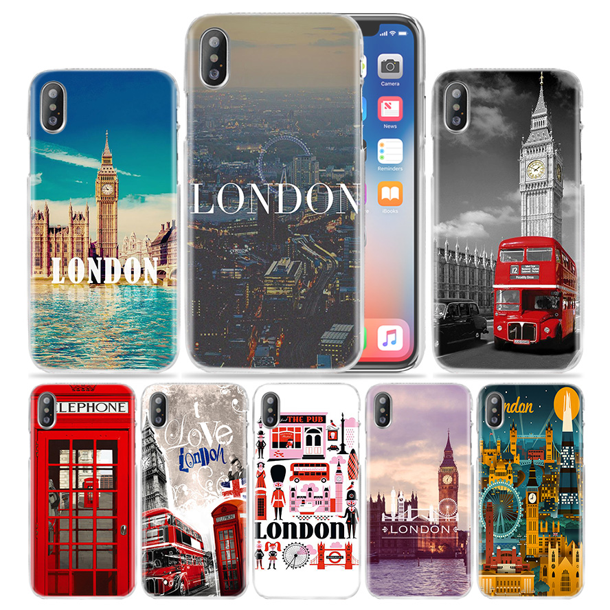 Hot Sale London Hard Transparent Phone Case Cover Coque for Apple iPhone 4 4s 5 5s SE 5C 6 6s 7 Plus iphone