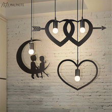 Retro industrial personality creative pendant lights hotel decoration lamp bedroom living room hanging light fixtures