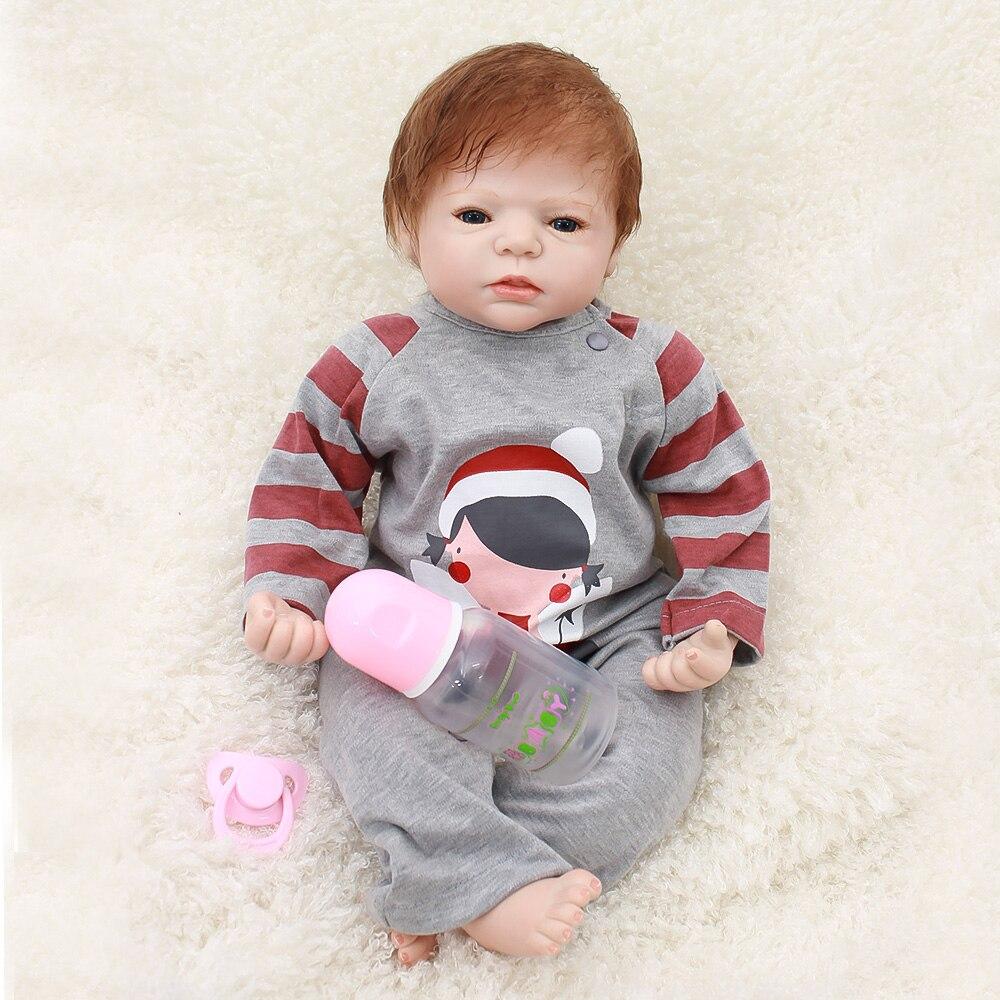 Otardpoupées 22 pouces 55 cm réaliste reborn poupées bébés silicone reborn bébé réel vivant jouets pour bebe Xmas cadeau reborn bonecas