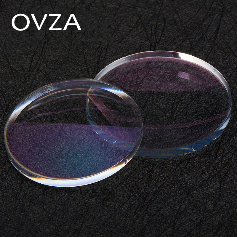 OVZA 1.61 Myopic Scratch resistant Aspheric Resin Lens Plus Hard Green Film with Coating Radiation Protection Prescription Lensresin lens1.61 lenslens aspheric -