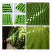 2016 new Vertical Garden new Felt Wall Grow Bag Garden Bag Hanging Wall Planting Bag Outdoor Garden Wall Bag Green Field 1m*1m A