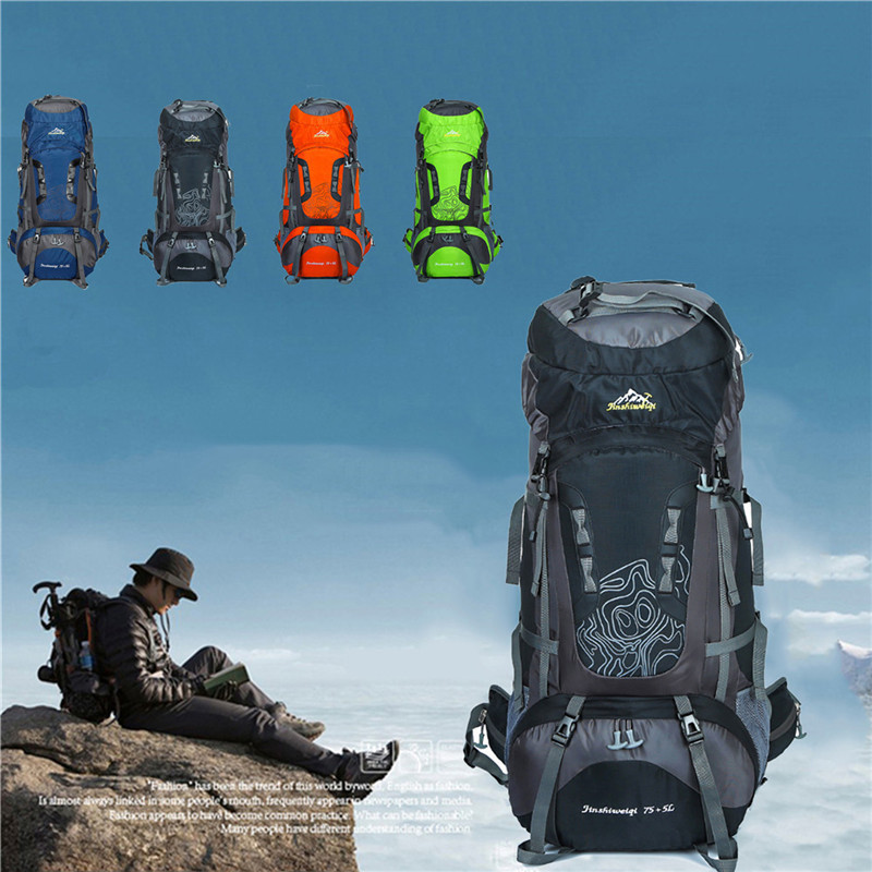 80L Large Capacity Military Tactical Pack Backpack Waterproof Bag Small Rucksack for Outdoor Hiking Camping Hunting 80l outdoor backpack large capacity camping camouflage military rucksack men women hiking backpack army tactical bag