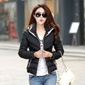 Novas Mulheres Roupas de Inverno casaco Feminino Outerwear Jaqueta Com Capuz Quente para baixo Mulheres Jaqueta casaco Fino longo casaco Mulheres Casaco Quente jaqueta