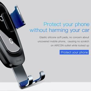 Image 4 - Baseus Qi Wireless Car Charger For iPhone 11 Pro Xs Max X 10w Fast Car Wireless Charging Holder For Xiaomi Mi 9 Samsung S10 S9
