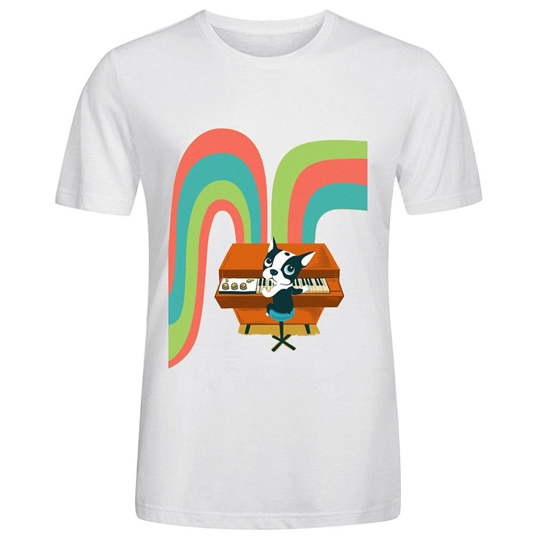 e576bcddde Hot 2017 Verão Homens T Shirt Da Forma de Dança No Mellotron Camisas de T  Para Homens de Alta Qualidade Camisas Dos Homens T