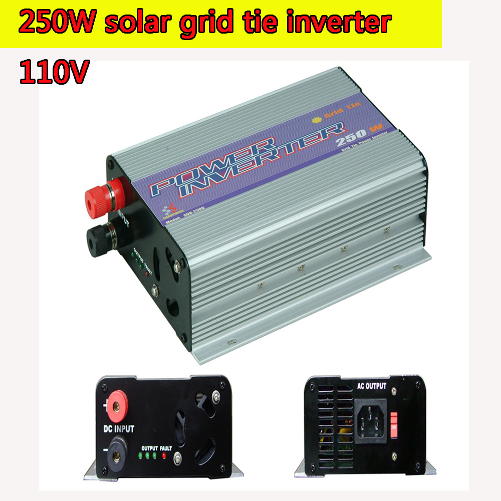 250W Grid Tie Inverter MPPT Pure Sine Wave Optional 10.8V to 30V and  22V to 60V Input 90V to130V Output for Photovoltaic System 600w grid tie inverter lcd 110v pure sine wave dc to ac solar power inverter mppt 10 8v to 30v or 22v to 60v input high quality