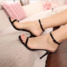 NEW leather high-heeled sandals fashion fine with 7cm and 9cm women's sandals high-heeled sandals sheepskin OL career shoes