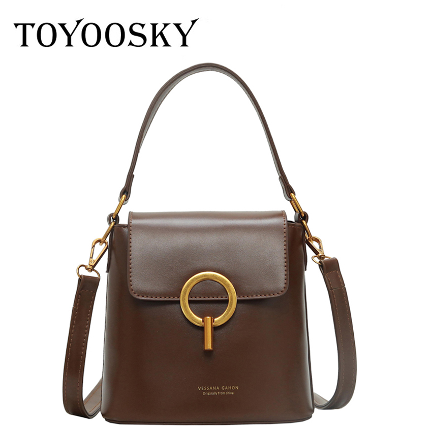 TOYOOSKY 2019 New Design PU Leather Messenger Bags Women Small Crossbody Female Famous Brand Mini Bucket Bag for Lady