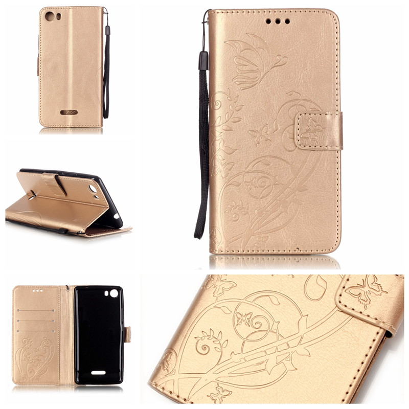 Hot Fashion 3D Embossing Pattern Wallet Leather Phone Flip Cover Case wiko fever 4g lenny 2 pulp rainbow lite sunset  -  Yue Yu communication store