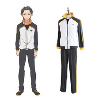Cosplay Subaru Natsuki Boys Tracksuit Hot Anime Life In A Different World From Zero Men Costume Sets Suit High Quality