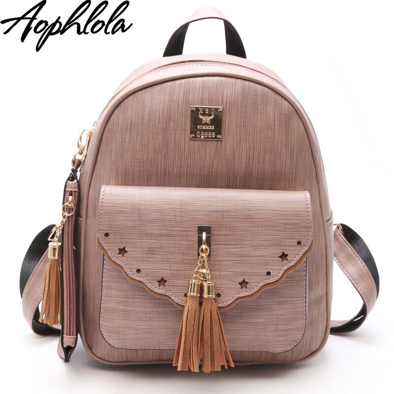 e80989ebd3 New Design Tassel Women Backpack PU Leather Backpack for Girls Female  School Shoulder Bag Vintage Beading 3 Pcs Set Bagpack Tags