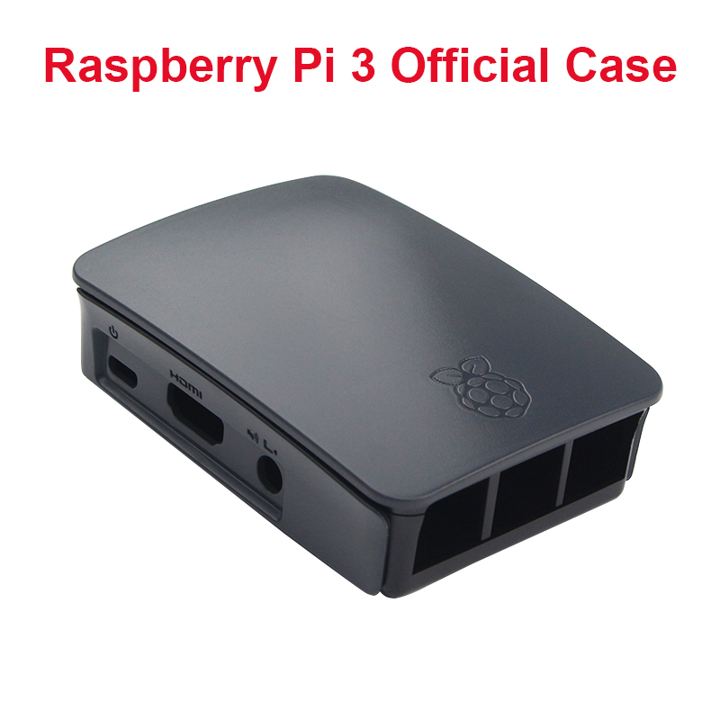 Original Raspberry Pi3 Official Case Black ABS Professional Enclosure Box Only For Raspberry Pi3 Model B