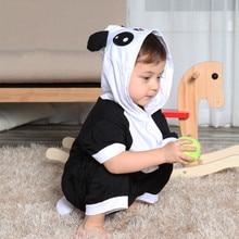 Cute child cartoon conjoined animal cotton pajamas summer boy short sleeve parent child dinosaur thin section girl child