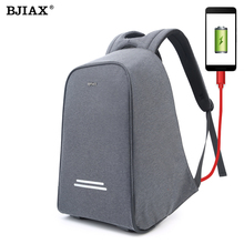 BJIAX Multifunction Anti thief USB charging 15 6inch laptop backpack male high quality school Nylon Bagpack