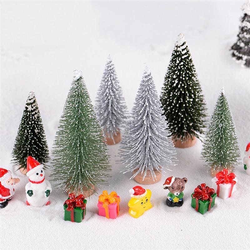 2 Teile/satz Micro Weihnachten Baum Pvc Dekorative Handwerk Mini Ornamente Fee Welt Home Dekoration Weihnachten Geschenk Für Kinder Figuren & Miniaturen