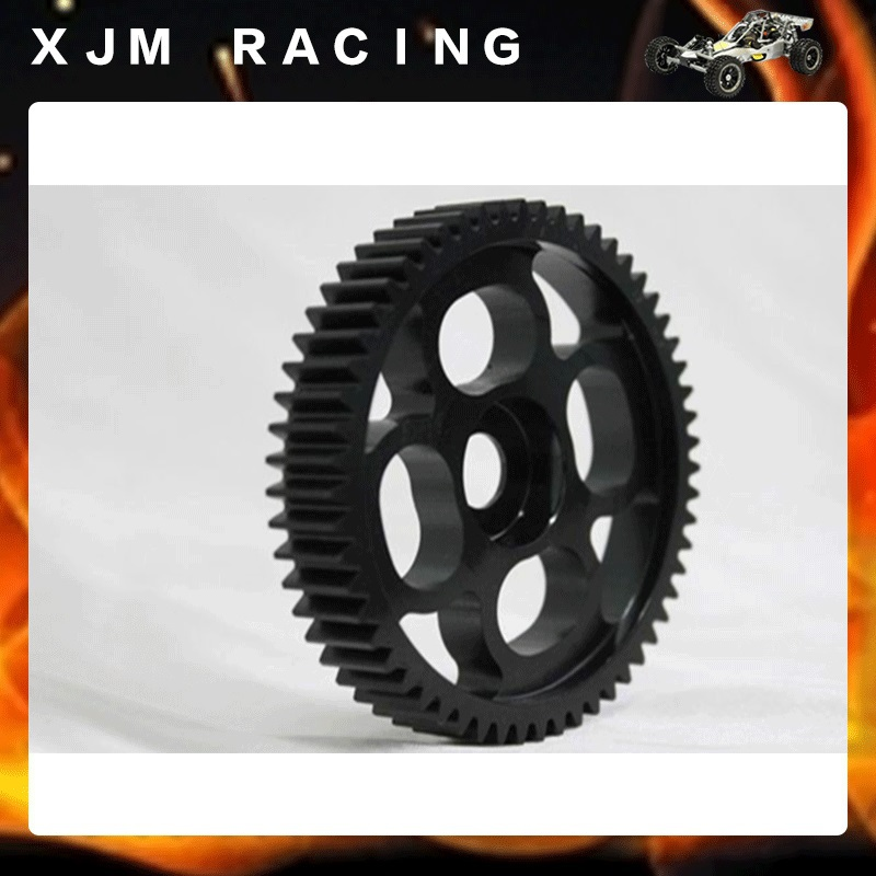 1/5 rc car racing parts, CNC metal 57T Spur gear for 1/5 scale hpi rovan baja 5b/5t/5sc king motor truck
