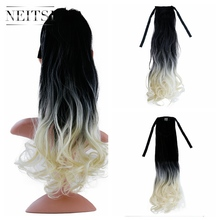 Neitsi 20'' Curly Tie on Ponytail Clip In Synthetic Drawstring Pony Tail Hairpieces For Women