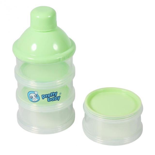 4 Layers Detachable Infant Baby Milk Powder Storage Dispenser Baby Travel Food Storage Box Portable Milk Dispenser Container
