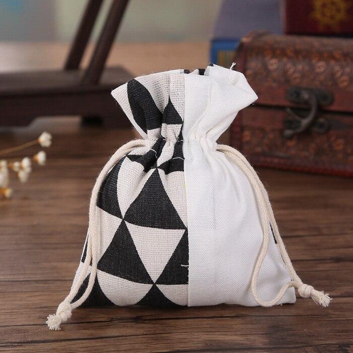 Натуральный лен drawstring свадебный подарок Сумки Jewelry сумка для вечеринки подарочные сувениры (набор из 48)