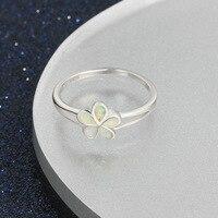 LOZRUNVE החדש S925 כסף פיצוץ aliexpress גברת אלמנטי אופל טבעת פשוט תכשיטים קוריאנים טבעת.
