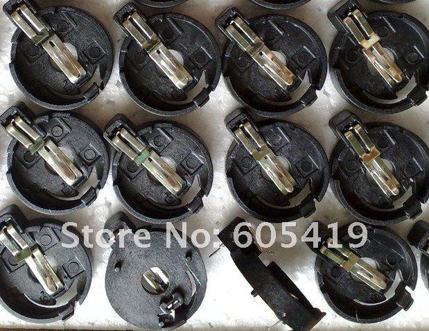 600 шт./лот, CR2032 держатель батарейка кнопка гнездо батареи клипы с Шпильки, через отверстие типа bs-4