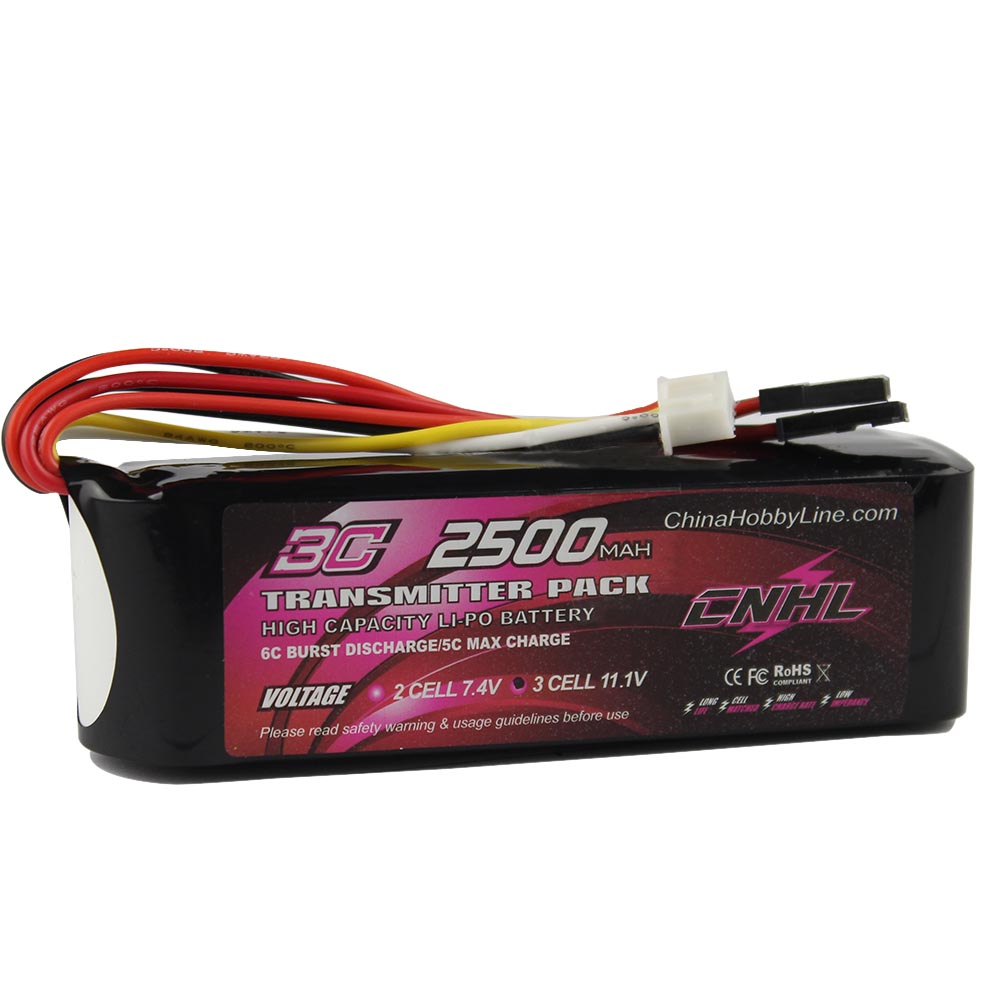 CNHL TX PACK 2500mAh 11.1V 3S 3C Li-Po Battery  for RC Hobby free shipping free customs taxes high quality skyy 48 volt li ion battery pack with charger and bms for 48v 15ah lithium battery pack