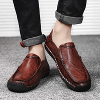 Genuine Leather Men Casual Shoes Luxury Brand 2019 Mens Loafers Moccasins Breathable Slip on Driving Shoes