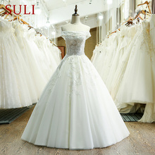 SuLi SL-216 Tulle Lace Appliques Hijab Wedding Dress China