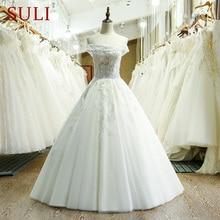 SuLi SL-216 Tulle Lace Appliques Hijab Wedding Dress China