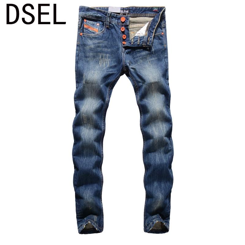 2017 New Arrival Fashion Men Jeans Straight Fit Leisure Quality Biker Jeans Denim Trousers Dsel Brand