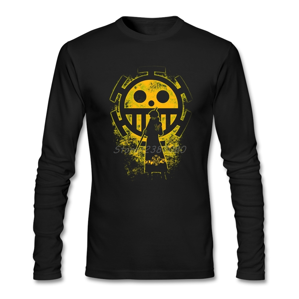 One Piece T Shirt Long Sleeve Men's Shirt New Style Couple's Cotton Crewneck  Tees Shirts Homme