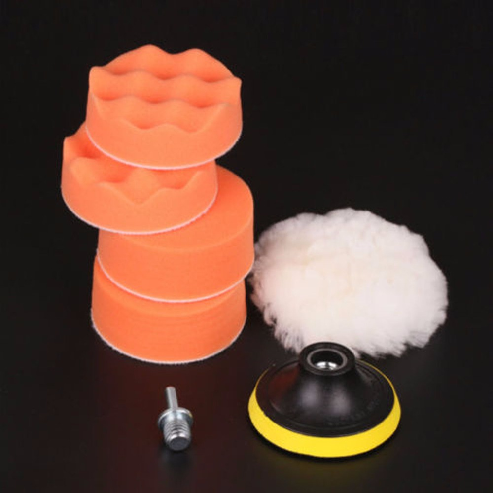 "SPTA 7Pcs High Gross 80mm 3"" Polishing Pad Buffing Pad Kit"